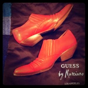90's Red Hot Leather Guess Booties